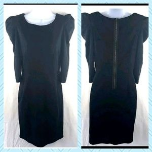 LBD by Topshop size 8 exposed rear zipper